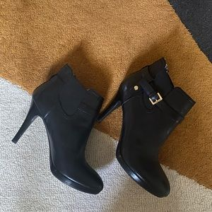Tommy Hilfiger Black Heeled Boots